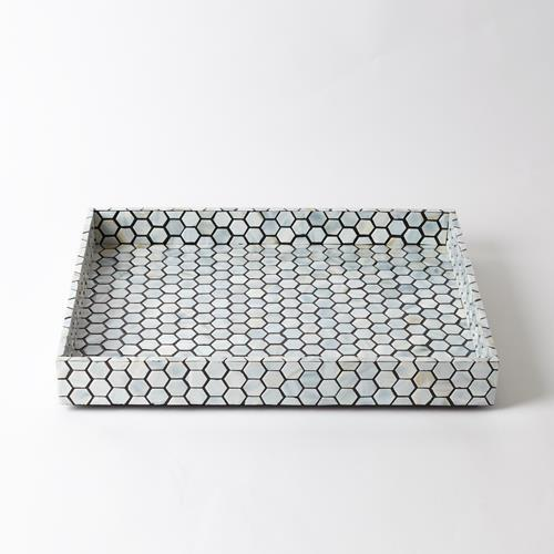 Mother of Pearl Tray-Black-Sm