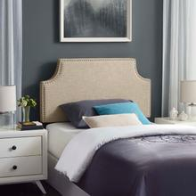 View Product - Laura Twin Upholstered Fabric Headboard in Beige