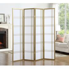 See Details - Seto 4-Panel Golden Room Divider Screen