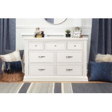 Warm White Durham 7-Drawer Assembled Dresser