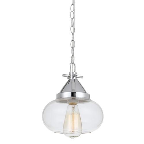 Cal Lighting & Accessories - 60W Maywood Glass Pendant (Edison Bulbs Not included)