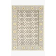 AME-03 RP Geometric Rose Natural Rug