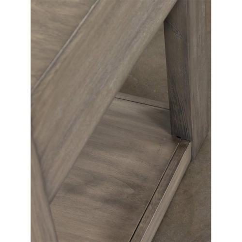 Riata Gray - Side Table - Gray Wash Finish