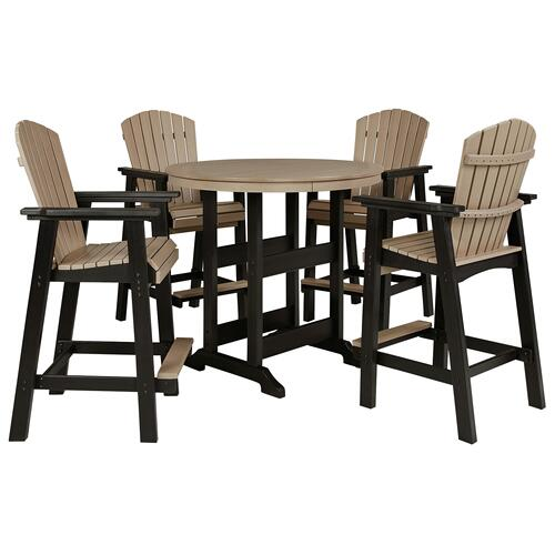 Gallery - Outdoor Bar Table and 4 Barstools