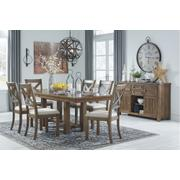 Dining Table and 6 Chairs With Storage Product Image