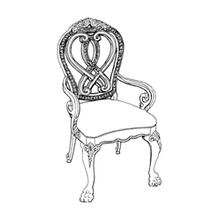 View Product - Wood Back Arm Chair