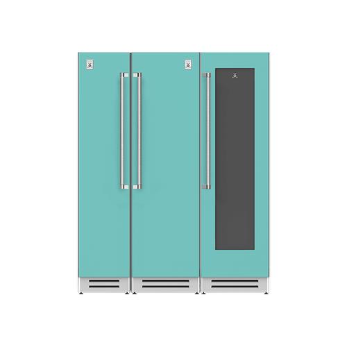 "Hestan - 66"" Column Freezer (L), Refrigerator and Wine Cellar ® Ensemble Refrigeration Suite - Bora-bora"