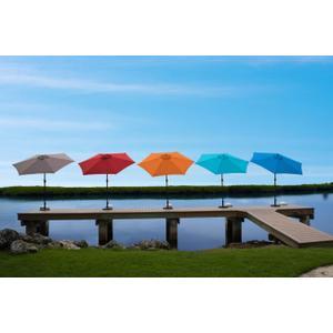 Panama Jack Orange 9 Ft Alum Patio Umbrella W/Crank
