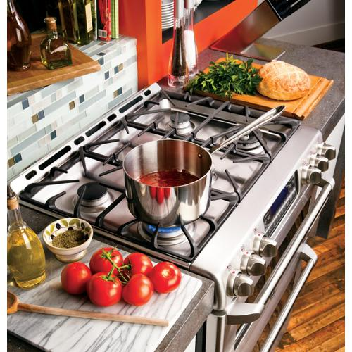 """GE Cafe - GE Cafe™ Series 30"""" Slide-In Front Control Gas Double Oven with Convection Range"""