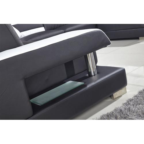 Divani Casa T356 Modern Black & White Bonded Leather Sectional Sofa