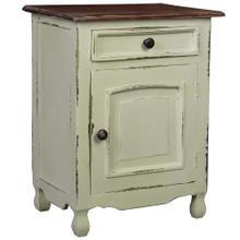 See Details - Cottage Storage Table - Two Tone Antique Green and Mahogany Top