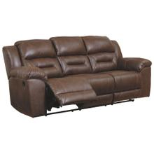 CLEARANCE Stoneland Power Reclining Sofa - Chocolate