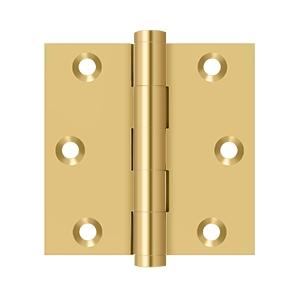 "3""x 3"" Square Hinge - PVD Polished Brass Product Image"