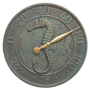 Seahorse Sealife Thermometer - Bronze Verdigris Product Image