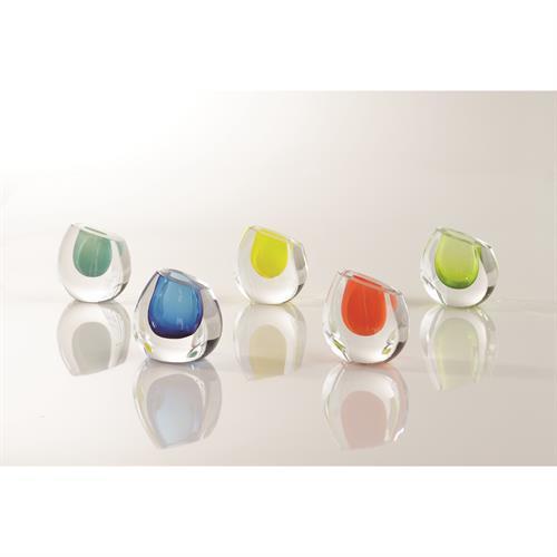 Color Drop Vase-Lime