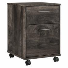 See Details - 2 Drawer Mobile File Cabinet, Dark Gray Hickory