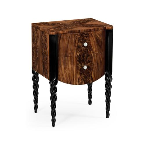 Black Barleytwist Bedside Chest