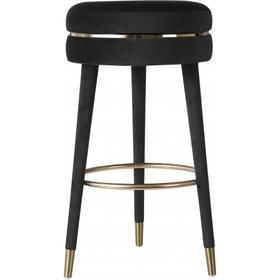 "Coral Velvet Swivel Bar Stool - 16"" W x 16"" D x 30"" H"