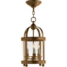 Visual Comfort CHC3426AB E. F. Chapman Edwardian 3 Light 9 inch Antique-Burnished Brass Foyer Pendant Ceiling Light