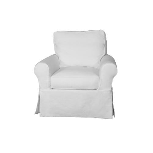 Horizon Slipcovered Swivel Rocking Chair - Color: 391081