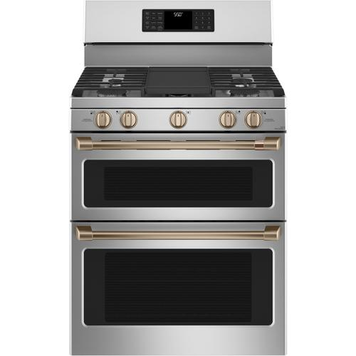 """Cafe - Café™ 30"""" Smart Free-Standing Gas Double-Oven Range with Convection"""