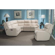 California Leather Power Reclining Sectional