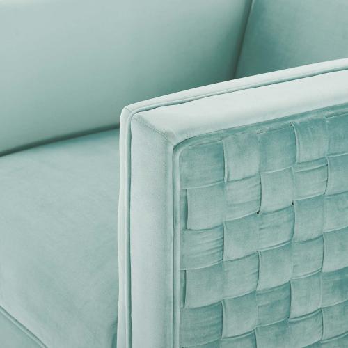 Modway - Resonate Performance Velvet Armchair in Mint