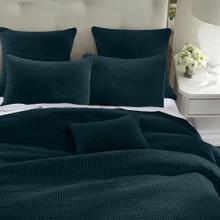 Stone Washed Cotton Velvet 3pc Quilt Set- 6 Colors (full/queen/king) - Full/queen / Deep Blue