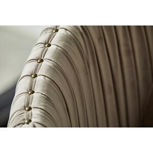 Pleated Velvet Swivel Accent Chair in Taupe