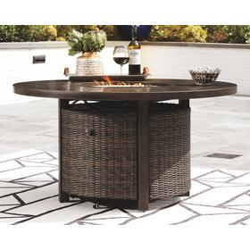 Paradise Trail Round Fire Pit Table Medium Brown