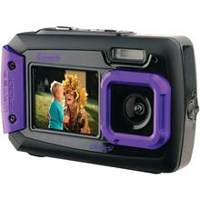 20.0-Megapixel Duo2 Dual-Screen Waterproof Digital Camera (Purple)
