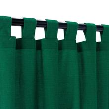 See Details - Sunbrella Canvas Forest Green Outdoor Curtain with Tabs