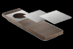 Presentation board 210070 - Walnut Stainless steel sink accessory , Walnut Product Image
