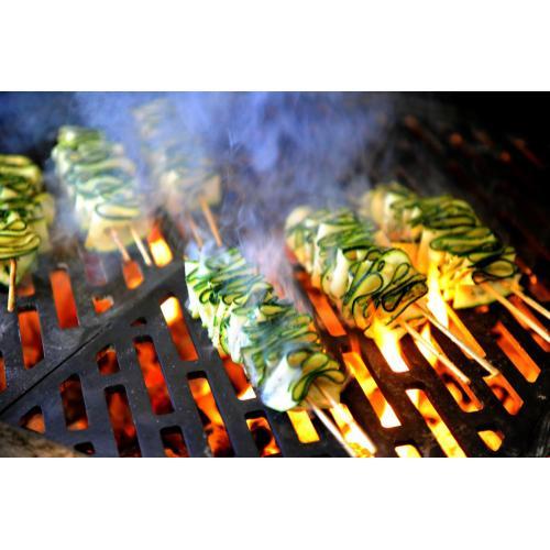 K1000 Freestanding Hybrid Fire Grill with Side Burner