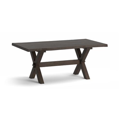 Bassett Furniture - Crossbuck Oak Live Edge Dining Table
