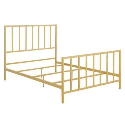 Metallic Gold Slat Full Metal Bed