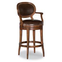 See Details - Oval Back Swivel Bar Stool