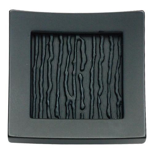 Atlas Homewares - Primitive Square Knob 1 1/2 Inch - Matte Black