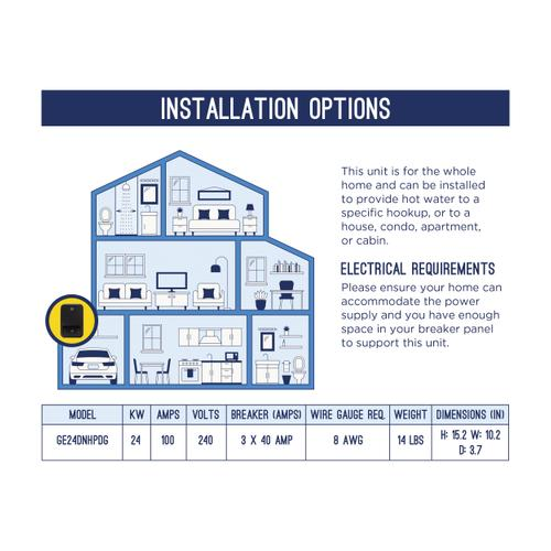 Gallery - GE® Tankless Electric Water Heater