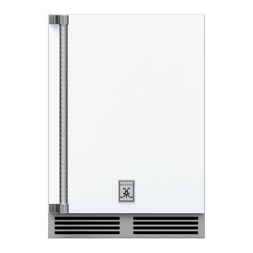 """24"""" Hestan Outdoor Dual Zone Refrigerator with Wine Storage (Solid Door) - GRWS Series - Froth"""