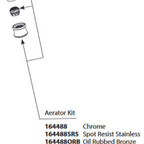 Weymouth Brushed Gold Aerator Kit