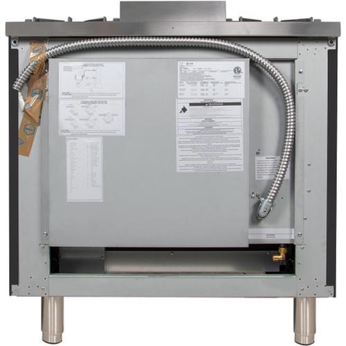 Nostalgie 36 Inch Gas Liquid Propane Freestanding Range in Matte Graphite with Chrome Trim