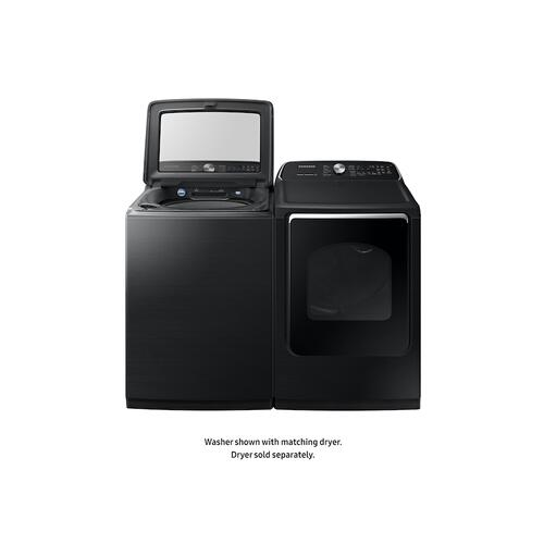 5.4 cu ft Top Load Washer with Super Speed in Black Stainless Steel
