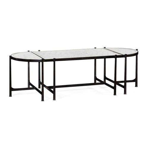 glomise & Bronze Iron Bunching Tables
