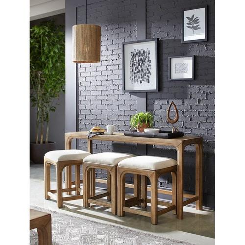 Gallery - BAR CONSOLE WITH THREE STOOLS