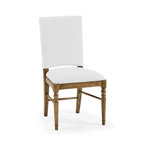 Medium Driftwood Side Chair, Upholstered in COM