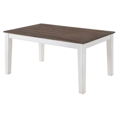 Gallery - 5057 A La Carte White Rectangular Dining Table
