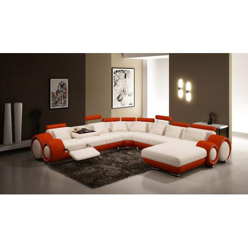 Divani Casa 4084 Contemporary Leather Sectional Sofa
