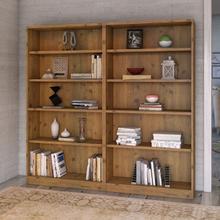 Universal Bookcases 5 Shelf Bookcase Set of 2 - Vintage Golden Pine