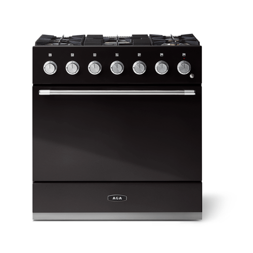 "Gallery - Aga Mercury 36"" Dual Fuel Model, Gloss Black"